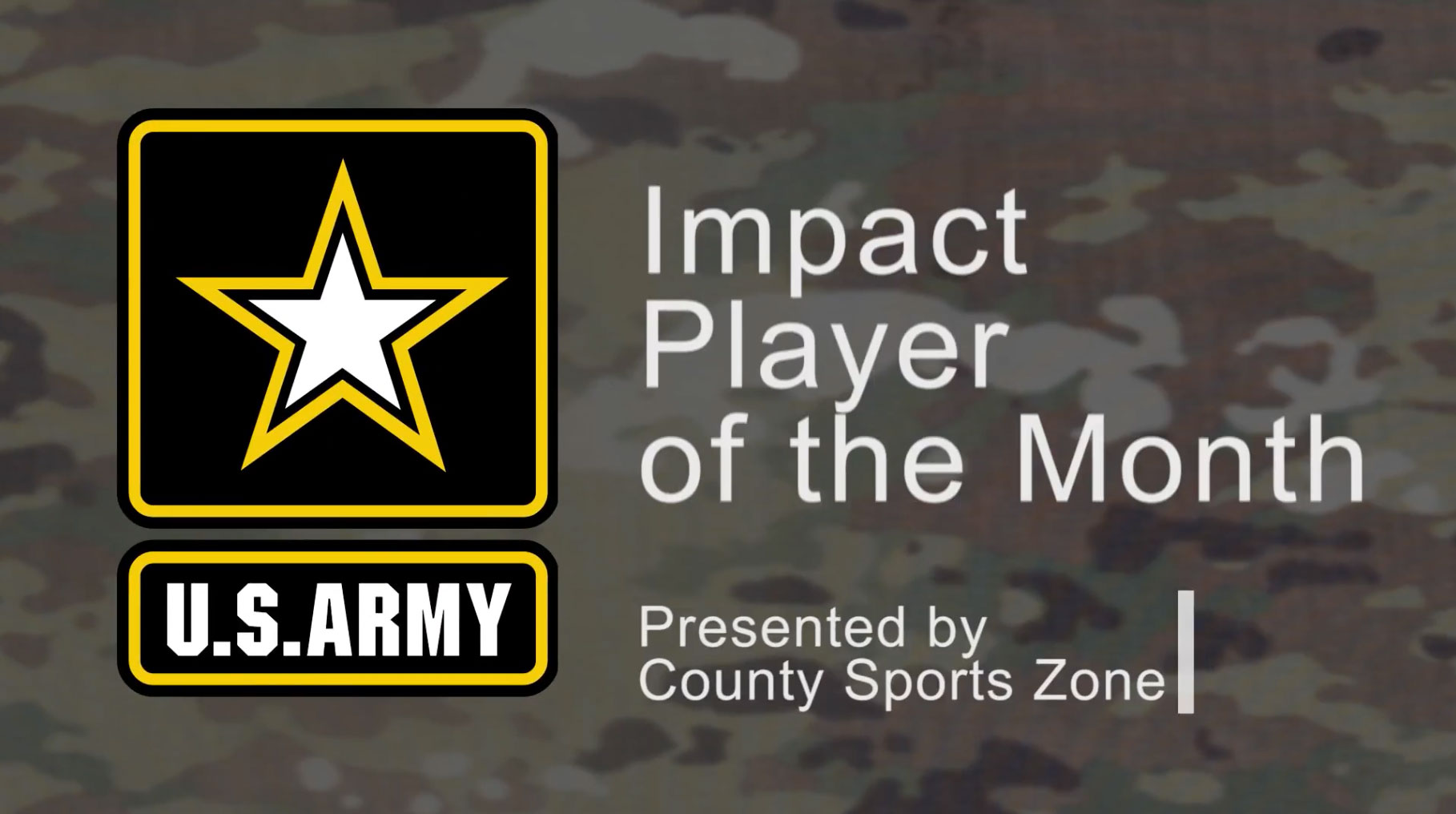 US Army Player of the Month